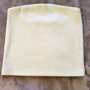American Eagle Pale Yellow Tube Top